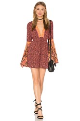 Free People Once Upon A Summertime Romper Orange