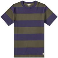 Armor Lux 77344 Rugby Stripe Tee Blue