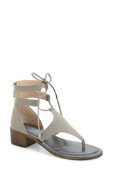 Charles By Charles David Women's Chessa Lace Up Sandal Cloud Faux Nubuck