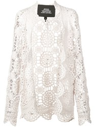 Marc Jacobs Crocheted Cardigan White