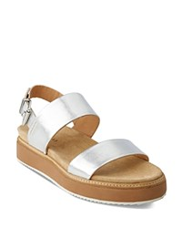 Whistles Firth Metallic Platform Sandals Silver