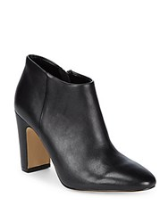 Saks Fifth Avenue Peyton Leather Booties Black