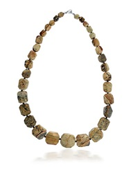 Lord And Taylor Jasper Bead Necklace Brown