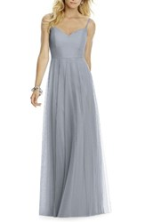 After Six Women's Sleeveless Tulle A Line Gown