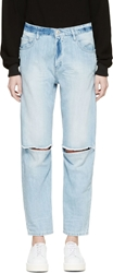Each X Other Blue Oversized Distressed Jeans