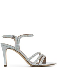 Ash Hello Pearl Embellished Sandals Silver