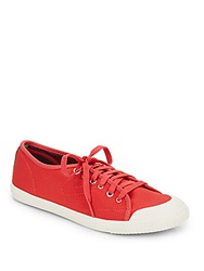 Tretorn Canvas Platform Sneakers Red