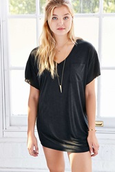 Bdg Duffy Dolman Sleeve Tee Dress Black