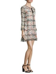 Sachin Babi Svetlana Bell Sleeve Silk Swing Dress Ivory