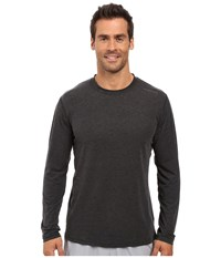 Brooks Distance Long Sleeve Top Heather Black Men's Long Sleeve Pullover