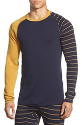 Men's Smartwool 'Nts Mid 250' Long Sleeve Colorblock Crewneck T Shirt