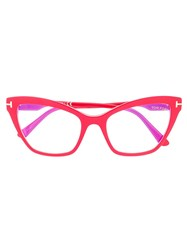 Tom Ford Eyewear Cat Eye Frame Glasses Red