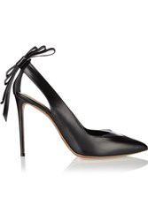 Nicholas Kirkwood Bow Embellished Leather And Pvc Pumps Black