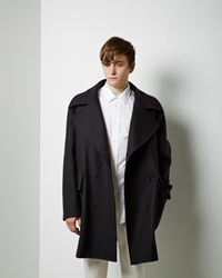 Maison Martin Margiela Line 14 Double Breasted Coat Navy