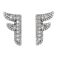 Fendi Silver Ffreedom Earrings