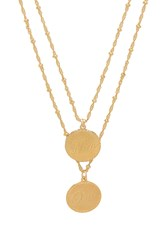 Joolz By Martha Calvo Non And Oui Necklace Metallic Gold