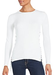 Saks Fifth Avenue Solid Long Sleeve Top