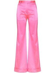 House Of Holland Pink Tailored Satin Trousers 60