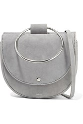 Theory Whitney Suede Shoulder Bag Gray