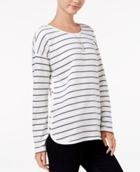 Maison Jules Striped Embellished Top Only At Macy's Blu Notte Combo