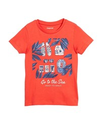 Mayoral Ready To Sail Printed Short Sleeve T Shirt Size 3 7 Red