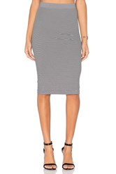 Bcbgeneration Seamless Midi Skirt Black And White