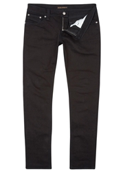 Nudie Jeans Tight Long John Black Slim Leg Jeans