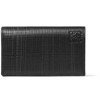 Loewe Embossed Leather Bifold Cardholder Black