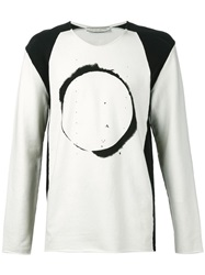 00 00 Mm Midnight Methods 'Eclipse' Long Sleeve T Shirt White