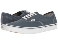 Vans Authentic Canvas Dark Slate True White Skate Shoes Blue