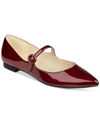 Marc Fisher Stormy Pointed Toe Flats Women's Shoes Fresh Red