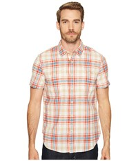 Lucky Brand Mason Workwear Shirt Red Plaid Men's Clothing