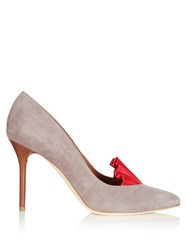 Adam By Adam Lippes X Malone Souliers Brenda Point Toe Suede Pumps Grey Multi