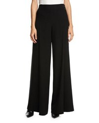 Elie Tahari Reese Wide Leg Zip Pocket Pants Black