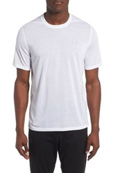 Under Armour Men's Threadborne Siro Regular Fit T Shirt White Overcast Gray