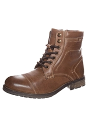 Tom Tailor Laceup Boots Tan Brown