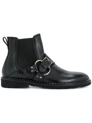 Dolce And Gabbana Buckled Chelsea Boots Black