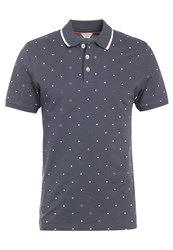 Jack And Jones Jcodot Slim Fit Polo Shirt Ombre Blue