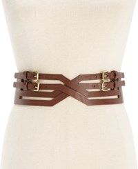 Inc International Concepts X Front Buckle Stretch Belt Only At Macy's Brown