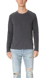 Splendid Mills Long Sleeve Raglan Tee Charcoal