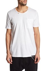 Drifter Trax Distressed Tee White