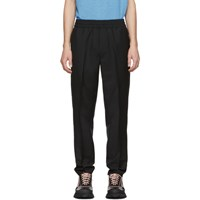 Acne Studios Black Wool Mohair Ryder Trousers