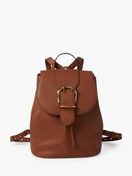 Ralph Lauren Cornwall Leather Backpack Tan