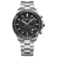 Raymond Weil 8570 St1 05207 'S Tango Automatic Chronograph Date Bracelet Strap Watch Silver Black