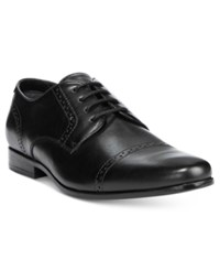 Guess Men's Gentry Cap Toe Oxfords Men's Shoes Black