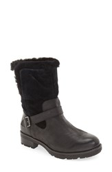 Vionic Women's 'Rosa' Genuine Shearling And Faux Fur Lined Boot Black Leather