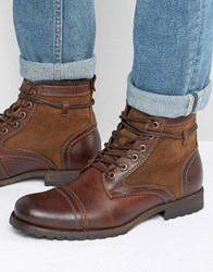 Aldo Acelalla Work Boots Cognac Brown