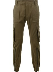 Juun.J Multiple Pockets Tapered Trousers Green