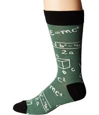 Socksmith Math Green Crew Cut Socks Shoes