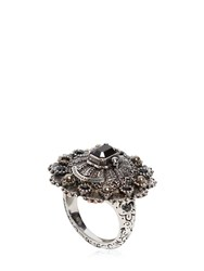 Alexander Mcqueen Celtic Engraved Swarovski Ring